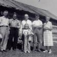 Claude, Mordicai, David, Margaret, and Kathryn Kinnisons, at Mords homestead in Alberta, CA
