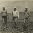 Calvin Knight Lester Coggeshall and Wallace St Angelo digging clams