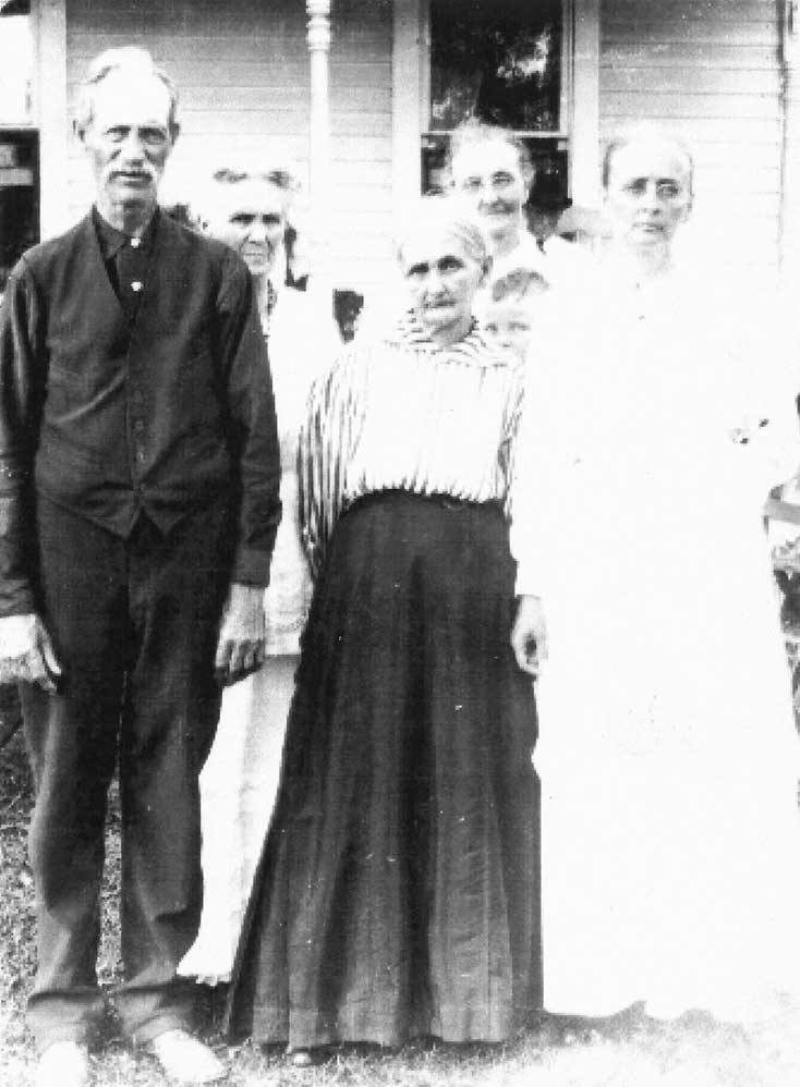 James and Mary Wood Curry and sisters Esther Wood Emma Wood and Carrie Wood
