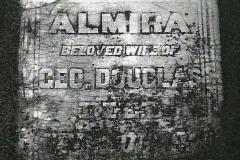 Almira Short Douglass stone