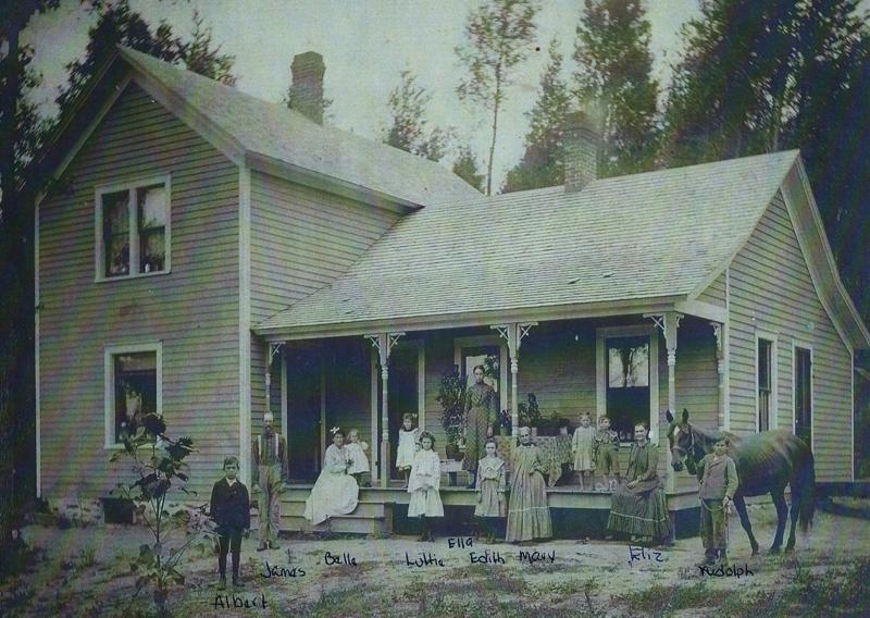 Albert James Belle Luttie Ella Edith Mary Elizabeth Rudolph Currys Home in Osseo Wis