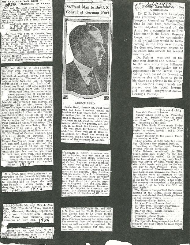 Leslie Reed articles