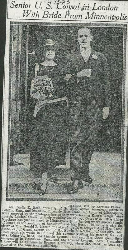 Leslie Reed marriage
